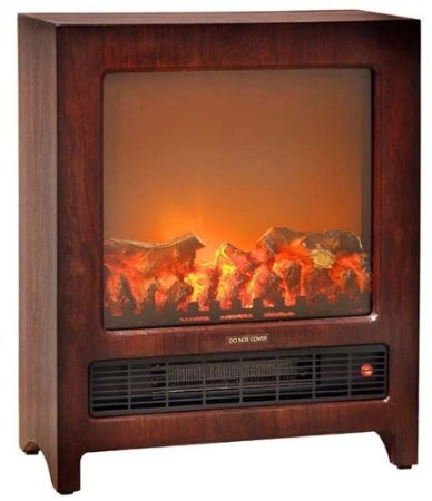 Comfort Zone®, CZFP3, Console Style Cherry Wood Cabinet Fireplace ...