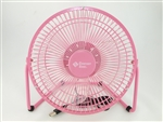 "Comfort Zone, CZHV8USB, 1 Fan 8"" Desktop Adjustable, Metal, High Velocity Cradle Fan, Dual Powered, Assorted Colors"