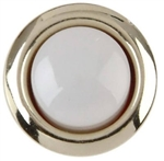 Thomas & Betts, DH1201L, Lighted White Door Chime Push Button With Round Silver Rim For Wired Chime System