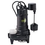 Eco-Flo ECD75V 3/4 HP Cast Iron Sump Pump With Vertical Switch It Has A Capacity Of 6000 GPH And A 34' Maximum Vertical Lift