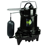 Eco-Flo EFSA50 Black 1/2 HP, 115V, 10A, Heavy Duty Cast Iron Submersible Sump Pump