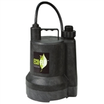 Eco-Flo ECFSUP54 1/6 HP SUBMERSIBLE UTILITY PUMP - THERMOPLASTIC CONSTRUCTION - GARDEN HOSE ADAPTER INCLUDED - UP TO 1680 GPH