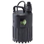 Eco-Flo ECFSUP80 1/2 HP SUBMERSIBLE UTILITY PUMP - THERMOPLASTIC CONSTRUCTION - GARDEN HOSE ADAPTER INCLUDED - UP TO 3180 GPH