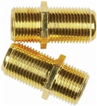 CONECT IT, F-81X, 2 Pack, Feed Thru Coaxial Cable Coupler, Connects 2 Coaxial Cables
