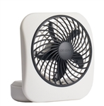 "O2COOL, FD05004, Gray, 1 Fan 5"" Desktop Portable Fan, Powerful 2 Speed Fan"