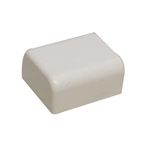 "Premiere Raceway Wire Hider FEC-71414 1/2"" White End Cap For Molding Self Adhesive"