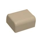 "Premiere Raceway Wire Hider FEC-71424 1/2"" Beige End Cap For Molding Self Adhesive"