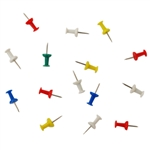 Helping Hand FQ50111 Assorted Colors Push Pins, Pack Of 40