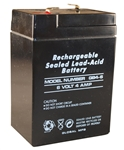 GLOBAL MFG, GB4-6, 6 Volt 4 Amps Rechargeable Sealed Lead Acid Battery