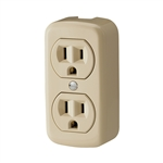Cooper Wiring 78V Ivory 15A 125V 3 Wire Grounded Surface Duplex Receptical Easily Mounted On Wall