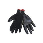 Tuff Stuff, GLV9635-1, 1 Pair, Heavy Black Plastic Dipped Palm Cotton Glove
