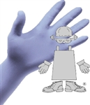 The Safety Zone, GNPR-XLG-1M, 5 Mil Blue Nitrile, Powder Free, Non-medical, Disposable Glove, X-Large, 100 Per Box
