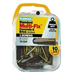 PLASPLUGS, GPS101US, 10 Pack, Multi-Fix General Purpose Anchor With Screws