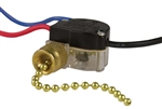 Gardner Bender, GSW-39, Variable speed, Two Circuit Brass Plated Pull Chain Switch