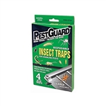 Pest Guard GTM412G Disposable Roach and Insect Glue Traps for Crawling Pests 4 Pack