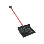"My Helper 1233 Combo Snow Pusher/Shovel 18"" x 14"" Massive Poly Blade Dip Rib Molded with D-grip Handle"