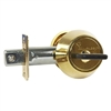 Mul-T-Lock HD1-05 Hercular Single Cylinder deadbolt with Thumb turn - Brass, HIGH SECURITY, 006 KEYWAY