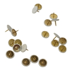 Helping Hand 50100 White Thumb Tacks, Pack Of 100