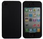iPhone 4 & 4S, Black, Rubberized Snap On Hard Case
