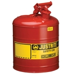 Justrite 7150100 Red 5 Gallon Justrite Type 1 Metal Gas Can