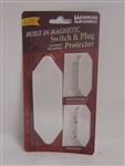 Simcha Candle SW-1011 White Switch & Plug Guard Protector For Decora Flat Switches