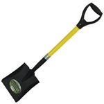 Tuff Stuff 52911 Square Point Shovel With Heavy Duty D-Grip Fiberglass Handle