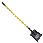 Tuff Stuff 52913 Square Point Shovel With Long Heavy Duty Fiberglass Handle