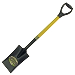 Tuff Stuff LGT52918 Garden Spade - Rubber D-Handle Grip Fiberglass Handle