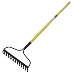 Tuff Stuff LGT52931 14 Tines Bow Rake With Fiberglass Handle