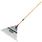 "Tuff Stuff LGT99041 22 Tines Spring Steel Lawn & Leaf Rake With 48"" Hardwood Handle"