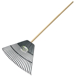 "Tuff Stuff LGT99042 24 Tines Spring Steel Lawn & Leaf Rake With 48"" Hardwood Handle"