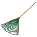 "Tuff Stuff LGT99043 30 Tines Spring Steel Lawn & Leaf Rake With 48"" Hardwood Handle"