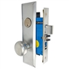 "Maxtech (Marks New Yorker 7NY10A/26D Like) 1033BF26DL Left Hand Heavy Duty Satin Chrome Mortise Entry Lockset Thru Bolted, 2-3/4"" Lock Set"
