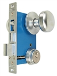"Maxtech LHR (Like Marks 22AC/26D-W-LHR) Satin Chrome 26D Finish Left Hand Reverse Double Cylinder Iron Gate Ornamental Mortise Lockset with 2-1/2"" Backset"