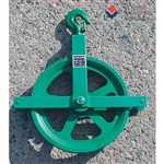 "Tuff Stuff, MANGB, 12"" Gin Block Pulley Sheave Reel Wheel Working Load Limit 1,000 LB Manila Rope Size 3/4"" - 1"""