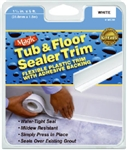 "HOMAX, MC306T, 1-1/4"" x 5', White, Vinyl, Tub & Floor Sealer Trim, Adhesive"