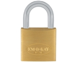 "Em-D-Kay 100 3/4"" Body Solid Brass Padlock With 1/2"" Shackle And M2 Keyway"