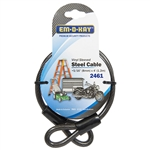 "Em-D-Kay 2461 Vinyl Sleeved 5/16"" x 4' Steel Cable Bike Lock"
