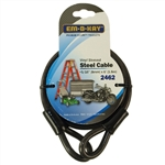 "Em-D-Kay 2462 Vinyl Sleeved 5/16"" x 6' Steel Cable Bike Lock"