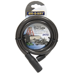 "Em-D-Kay 2472 Vinyl Sleeved 7/16"" x 40"" Steel Cable Bike Lock With Keyed lock"