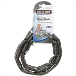 "Em-D-Kay 2481 Vinyl Sleeved 3/16"" x 3' Steel Chain"
