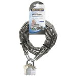 "Em-D-Kay 2484 Vinyl Sleeved 3/16"" x 4' Steel Chain With 1-1/2"" Laminated Padlock"