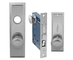Em-D-Kay (Like Marks 114A/26D) 5114ALDC Satin Chrome 26D Left Hand Heavy Duty Mortise Entry Lockset, Screwless Knobs Thru Bolted Lock Set