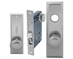 Em-D-Kay (Like Marks 114A/26D) 5114ARDC Satin Chrome 26D Right Hand Heavy Duty Mortise Entry Lockset, Screwless Knobs Thru Bolted Lock Set