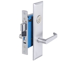 "Em-D-Kay (Like Marks Metro 116A/26D) 7114LDC Satin Chrome 26D, Left Hand Entrance, Heavy Duty Mortise Entry Screwless Lever Handle Lockset Thru Bolted, 2-1/2"" Lock Set"