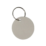 "Em-D-Kay IN-TAGS EMT300 1-1/4"" Diameter Round Indestructo Key Tags With Metal Ring - 50 Tags"