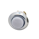 "Lee Electric 205LC Silver Chrome 5/8"" Wired Lighted Insert Flush Chime Low Voltage Push Button With White Button For Bell"