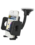 Xtreme 59101 Black Universal Adjustable Gooseneck Car Mount Cell Phone Holder