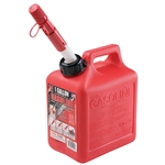 Midwest Can 1210 Red 1 Gallon Plastic EPA/CARB Gas Can
