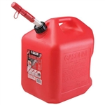 Midwest Can 5610 Red 5 Gallon Plastic EPA/CARB Gas Can